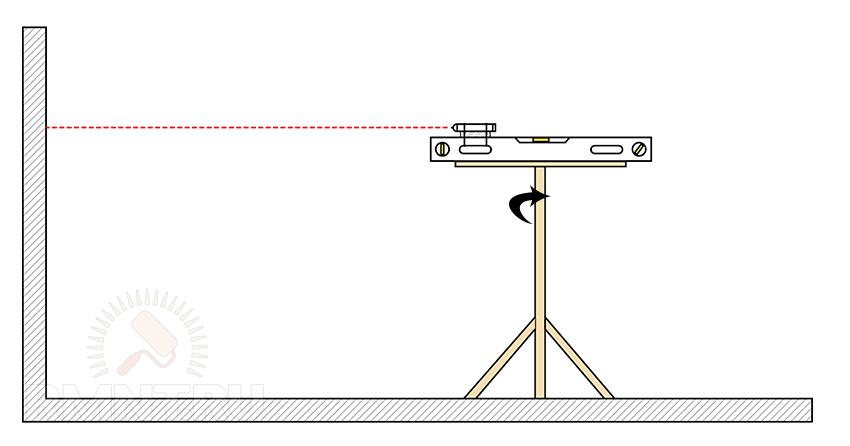 Горизонтальный лазерный уровень своими руками