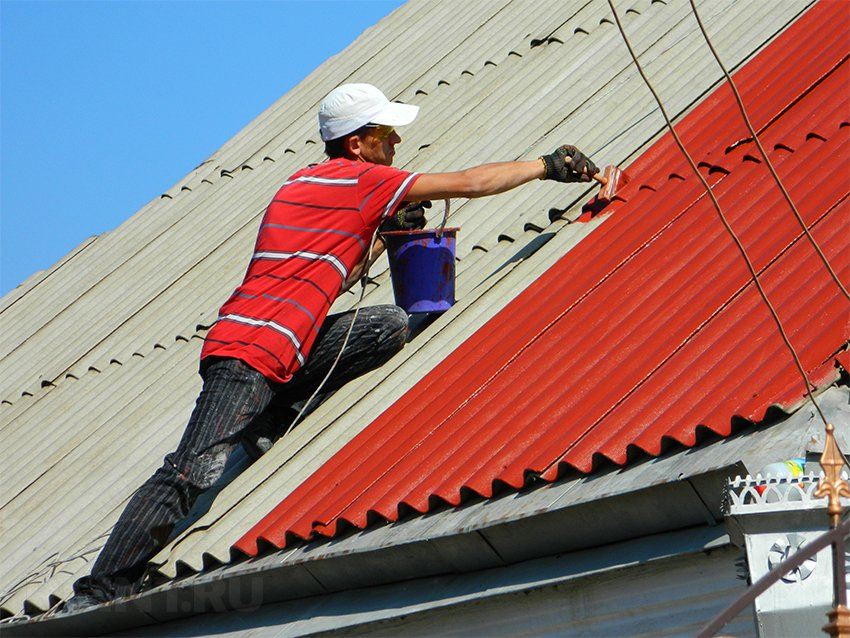 Чем можно отремонтировать шиферную крышу своими руками 73