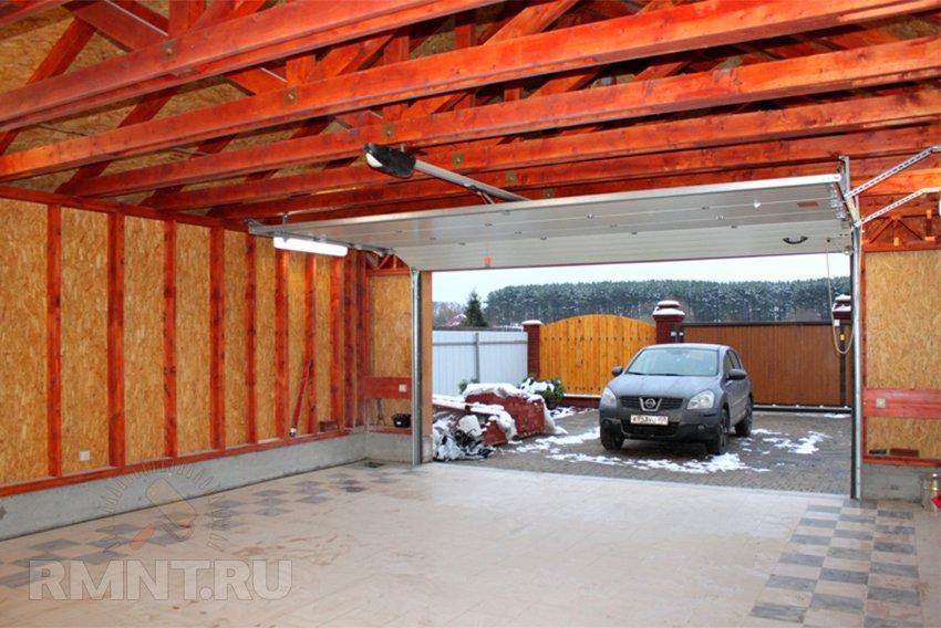 Построить гараж своими руками на две машины