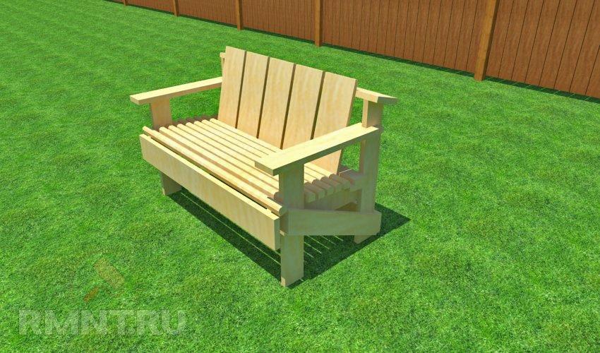 Как самостоятельно сделать садовую скамейку