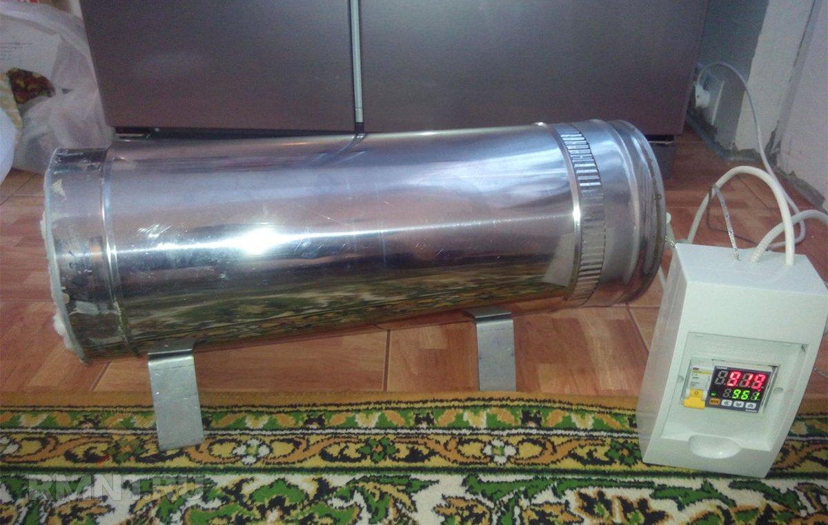 Самодельная муфельная печь в корпусе из нержавейки