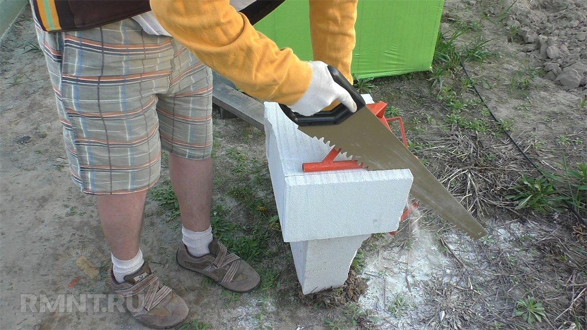чем можно пилить газобетонные блоки