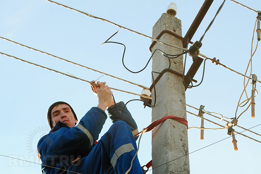 Ввод электричества в дом со столба