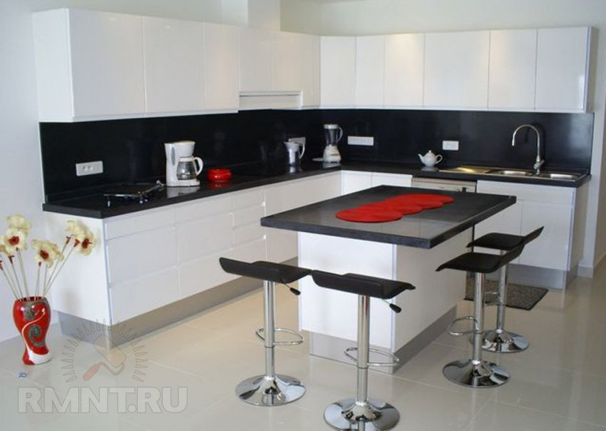 Дизайн черной кухни фото