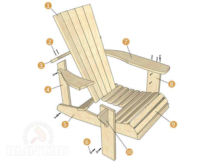 Деревянные кресла для дачи своими руками 53