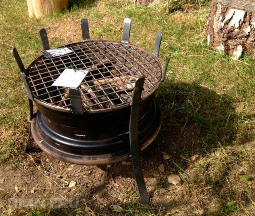 Барбекю из старого автомобиля комплексы барбекю плита печь