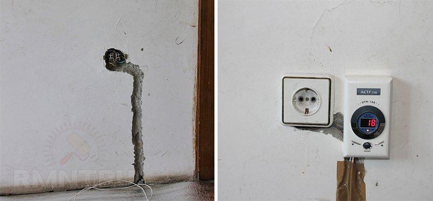 Монтаж термостата для электрического теплого пола