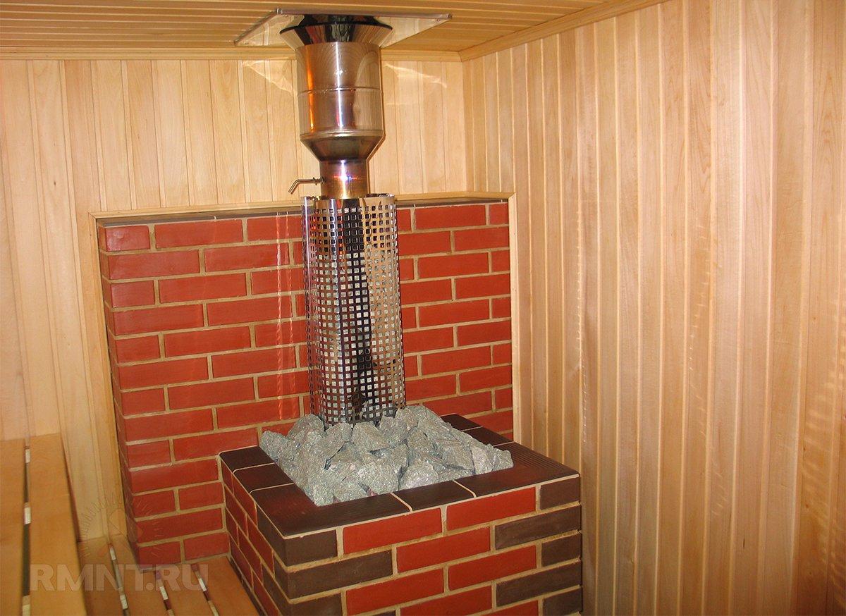 Как обложить металлическую печь в бане кирпичом, каким кирпичом обложить печь