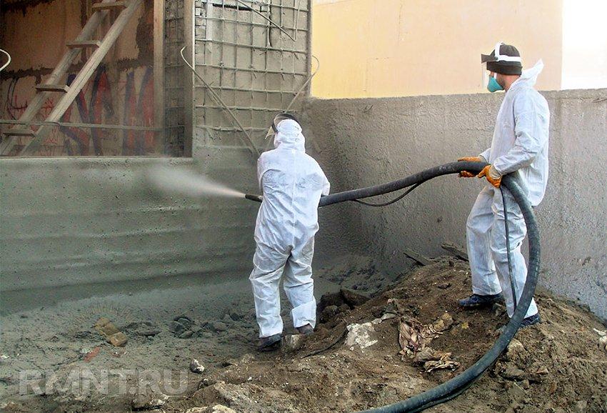 Торкретирование бетона гидроизоляция пожаробезопасная эмаль для пола