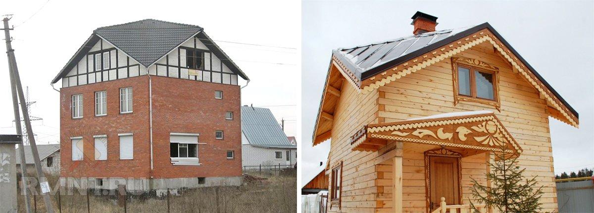 Примеры домов с крышей Судейкина