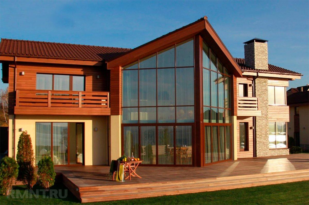 Фото фасадов домов с большими окнами