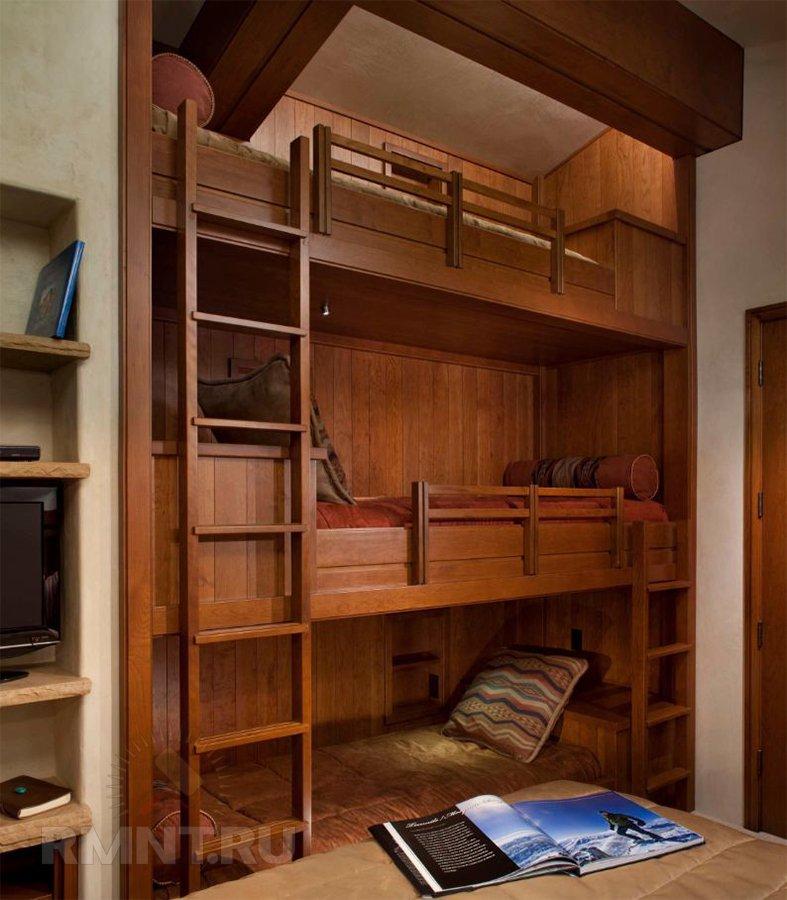 Встроенные двухъярусные кровати