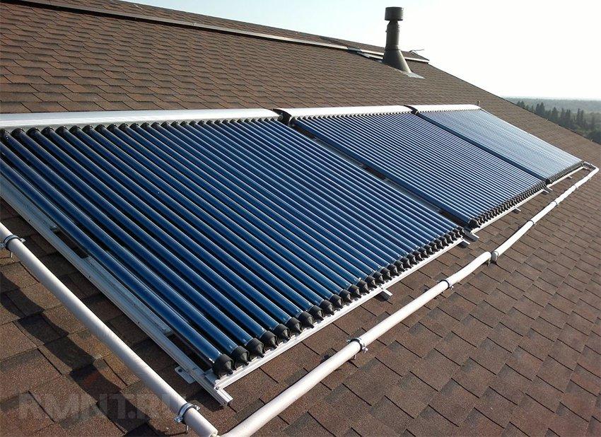 Солнечное отопление дома коллекторами: принцип работы и цена