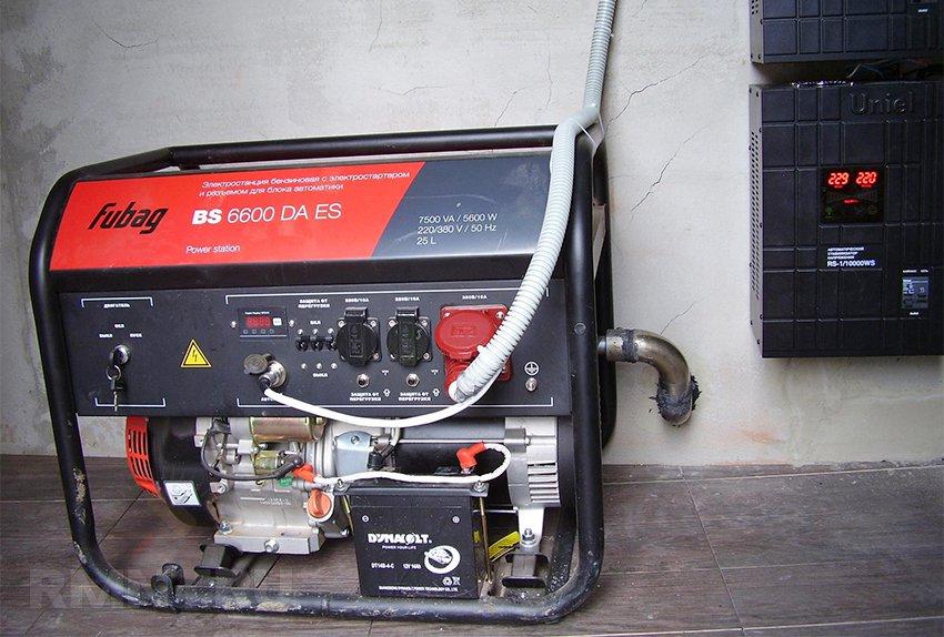 Резервное электроснабжение дома от генератора