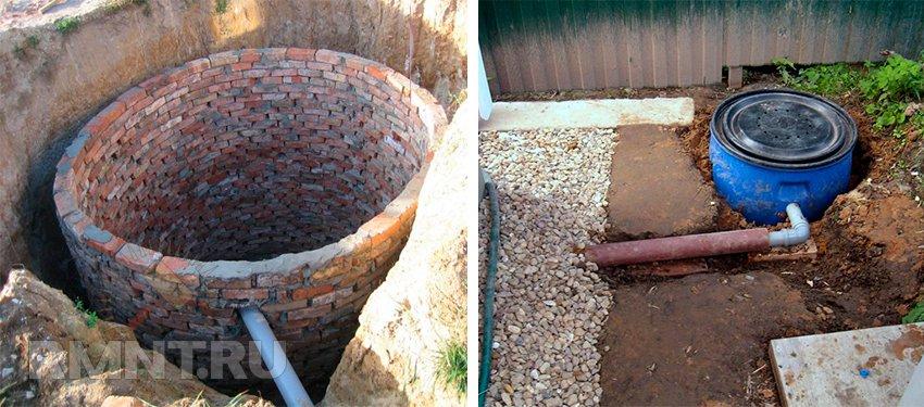 Туалет на даче с унитазом септик