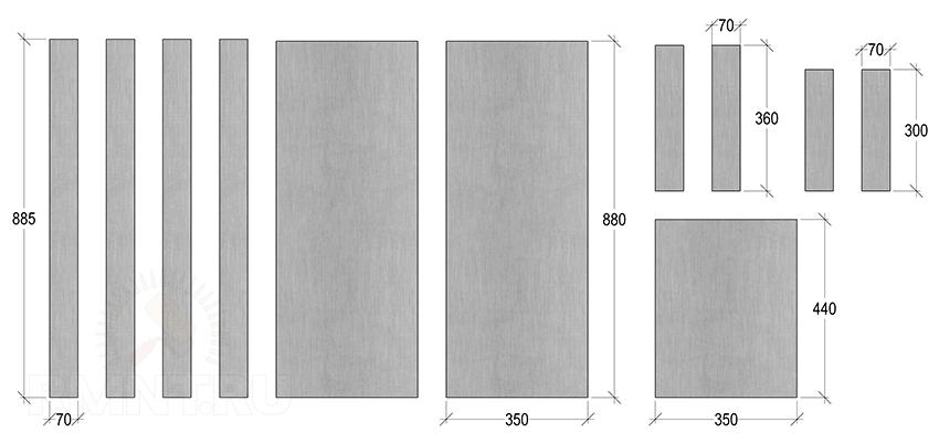 Размеры деталей для теплообменника каменки