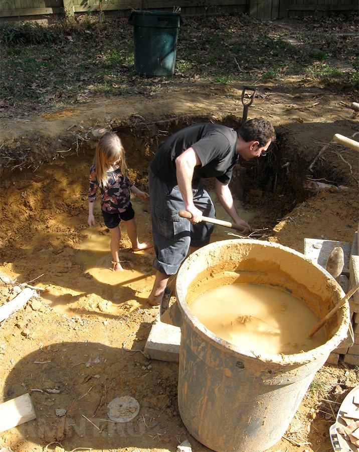 Добыча глины на участке