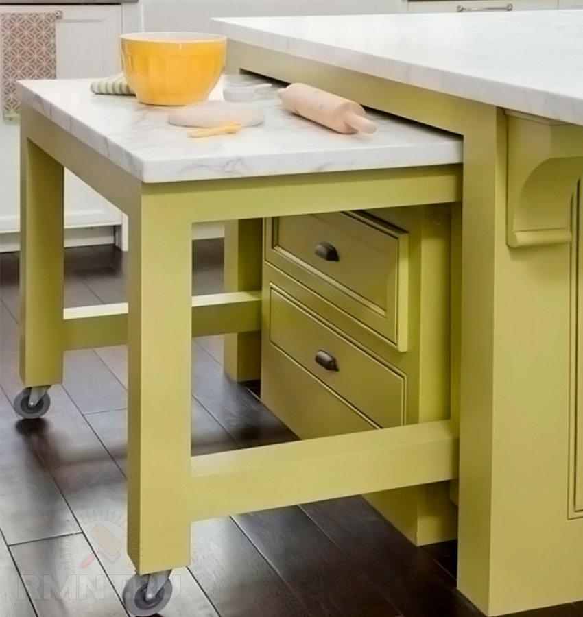 10 идей, как изящно и просто организовать пространство на маленькой кухне