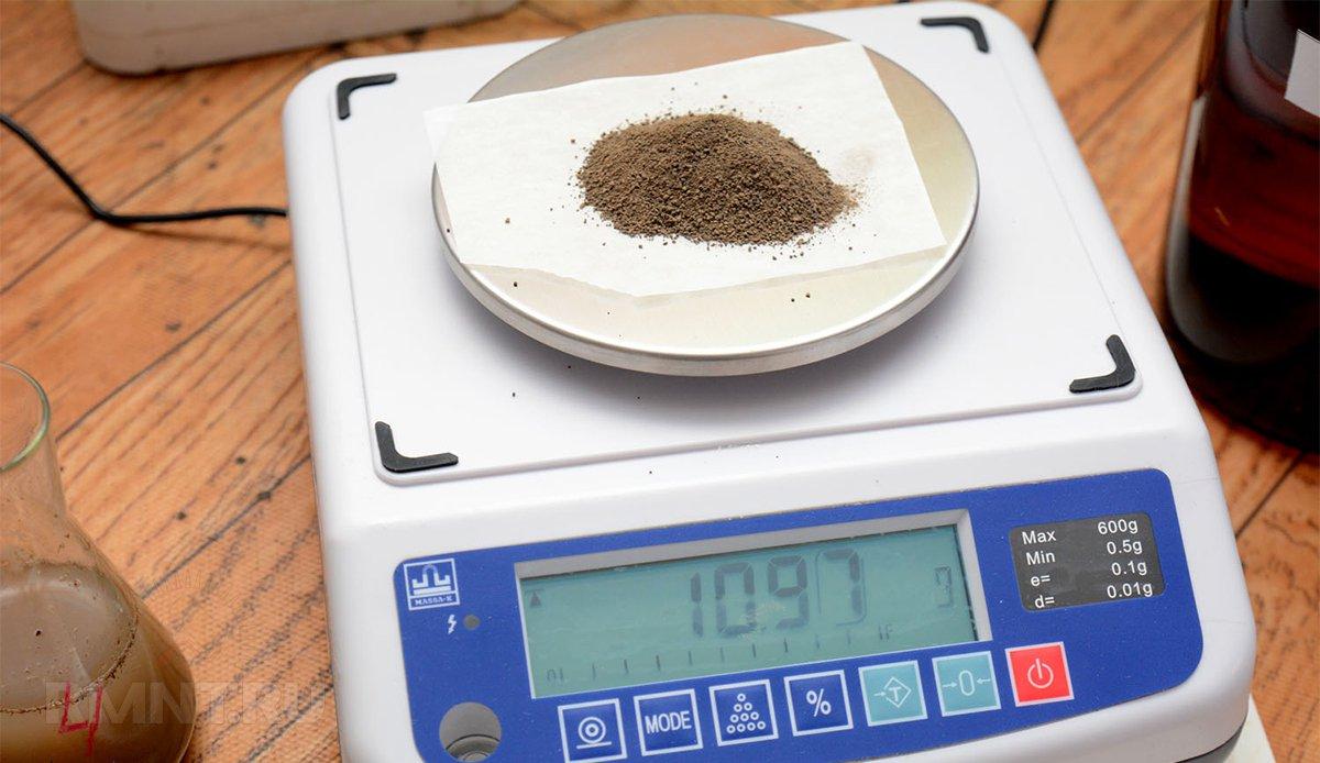 Определение влажности грунта методом высушивания