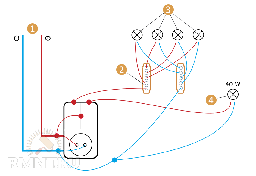 4 — настенный светильник
