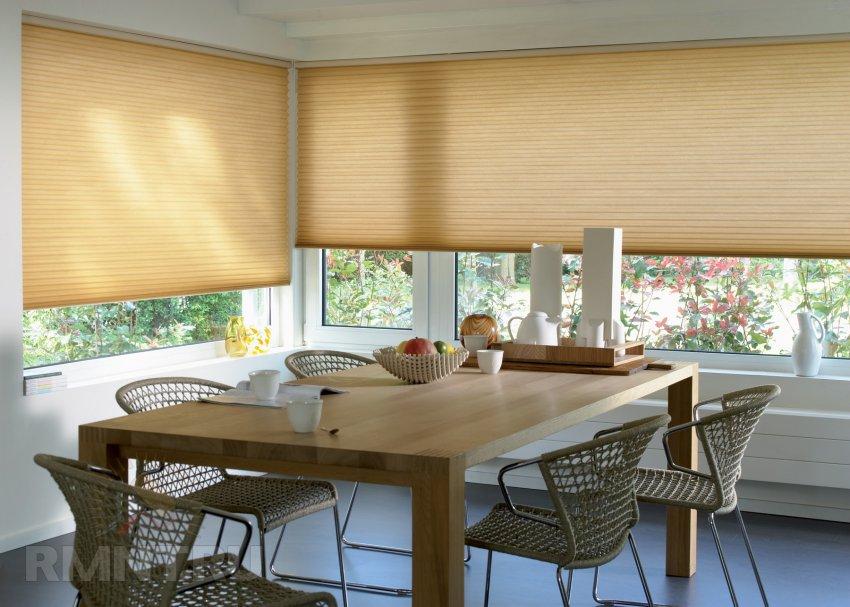 Шторы плиссе в дизайне современной квартиры
