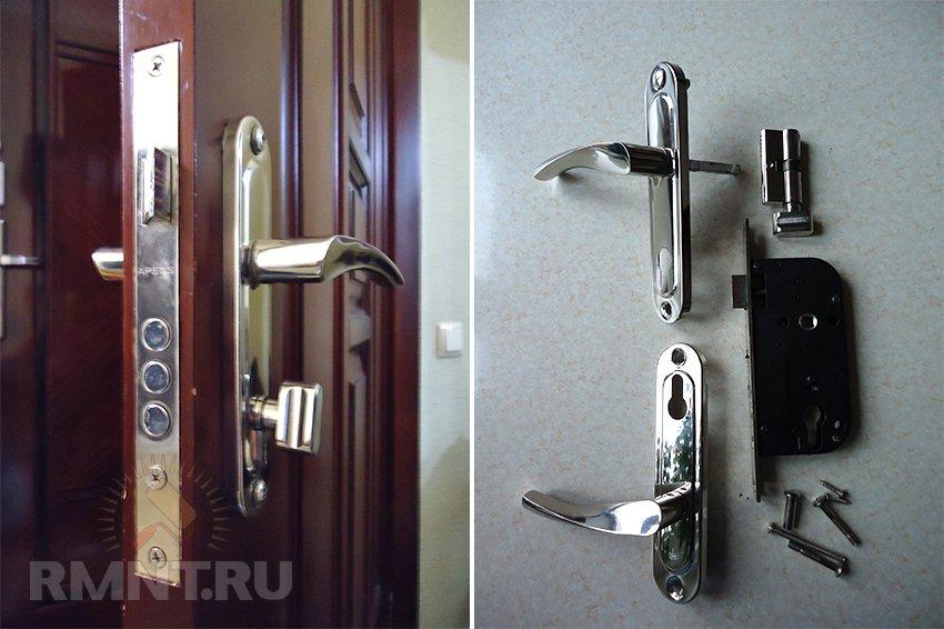 Замена замка в входной двери с запорными механизмами
