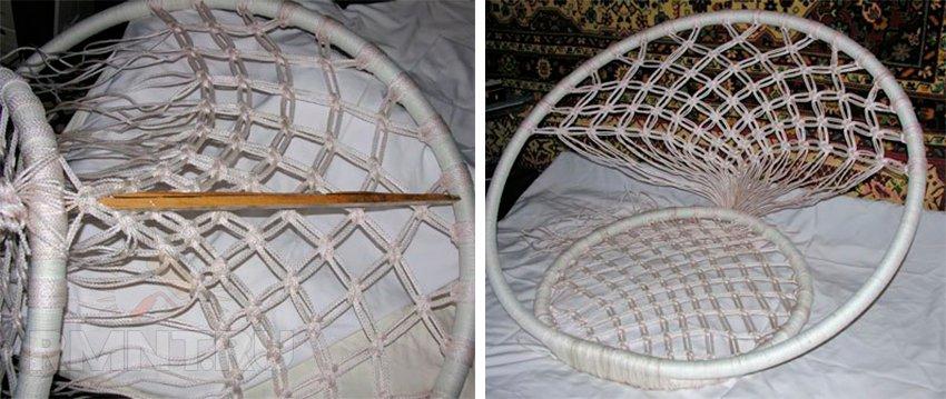 Плетеная мебель своими руками из каната 73