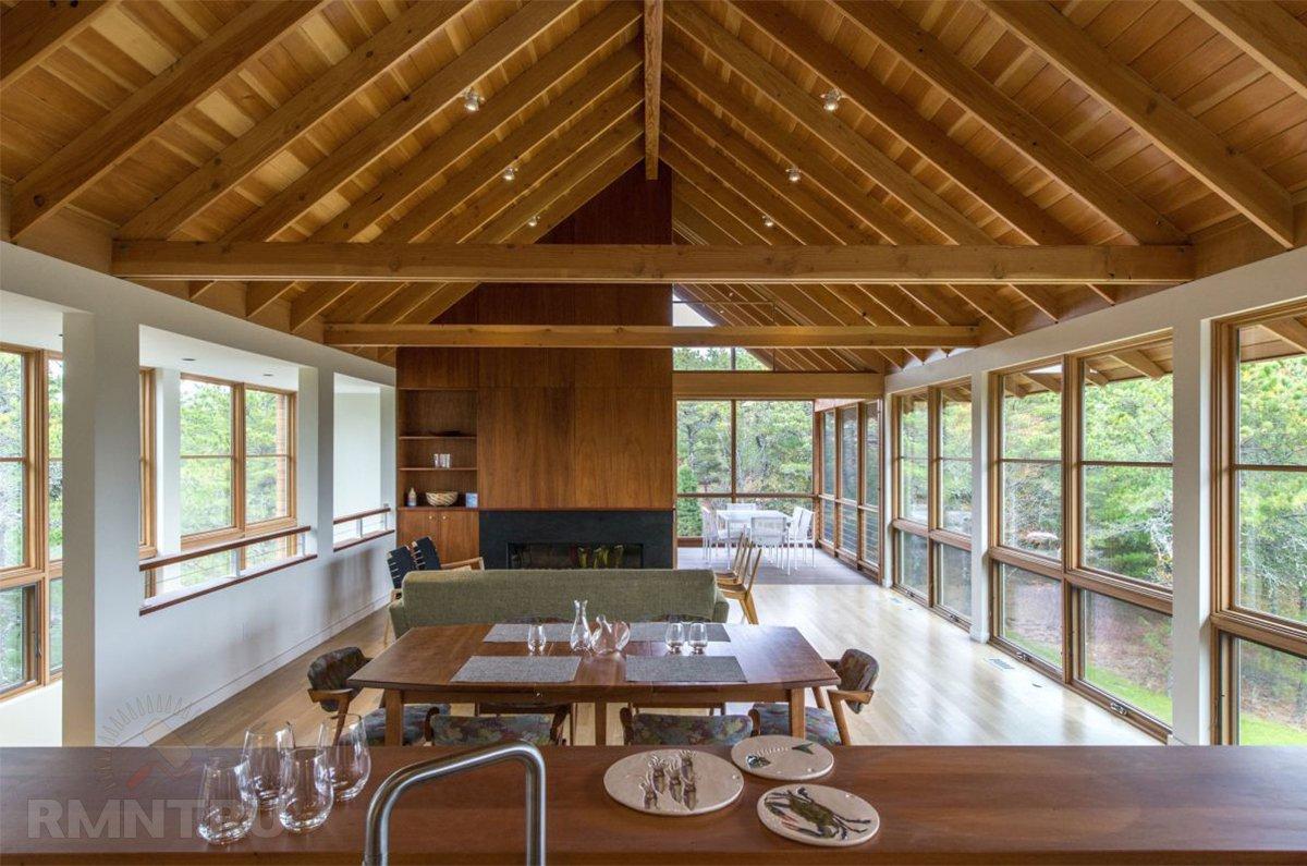 Потолок треугольной формы: идеи оформления