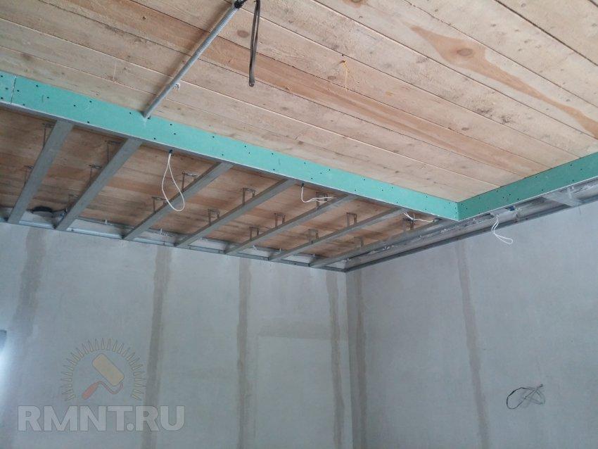 Комбинированный потолок своими руками фото