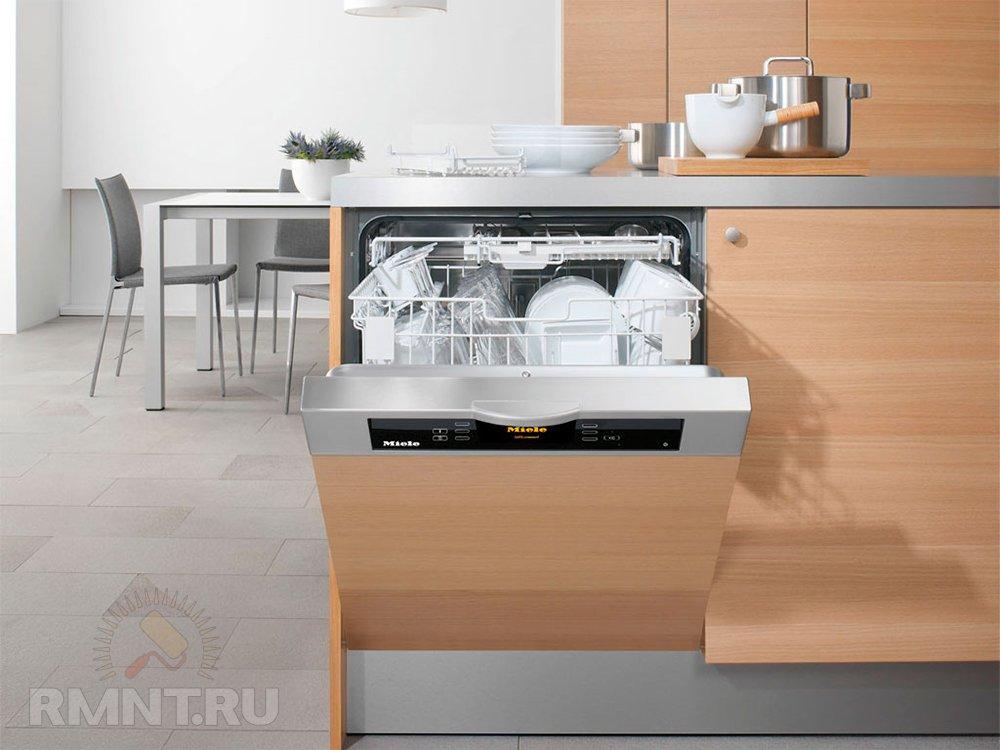 Посудомоечная машинка на кухне
