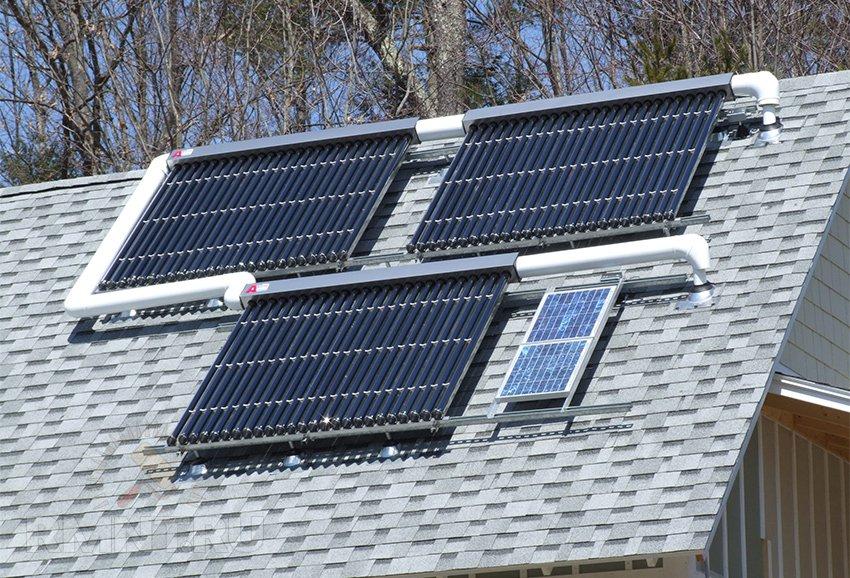 Солнечное отопление дома коллекторами