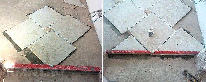 Укладка напольной плитки с мелкоштучными элементами. Фото и рекомендации мастера