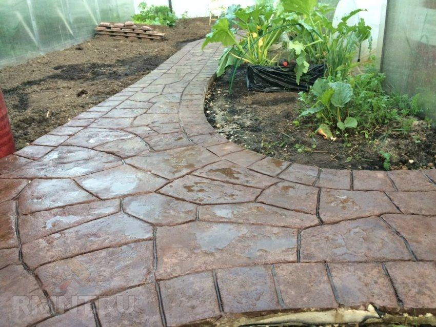 Садовые дорожки из бетона своими руками с малыми затратами фото 95