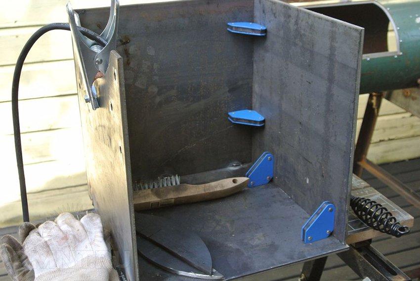Коптильня холодного копчения из газовой плиты своими руками