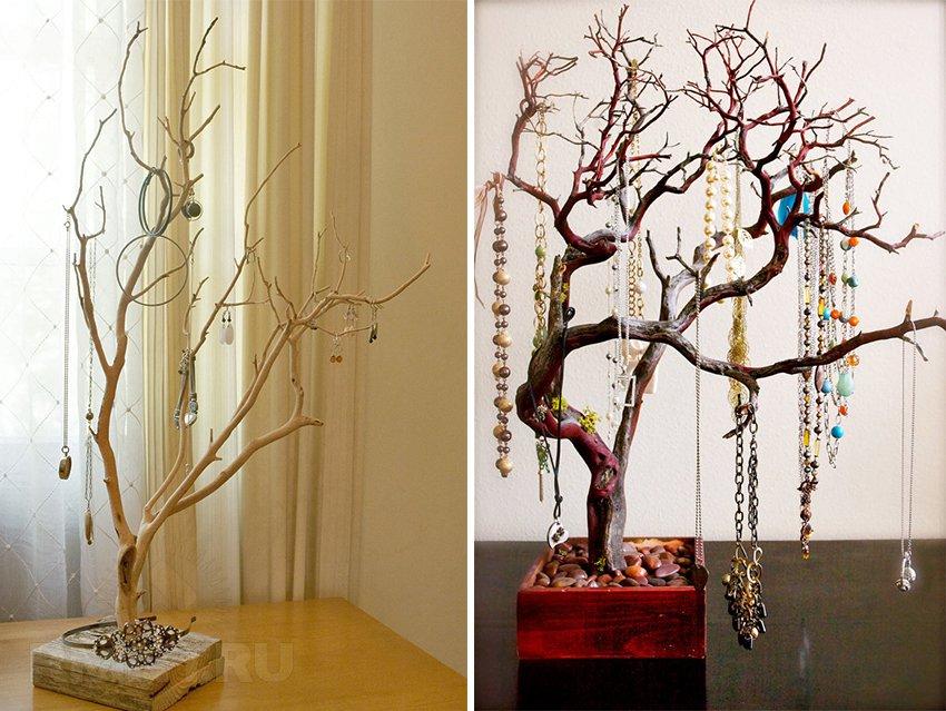 Декор ветками деревьев своими руками фото