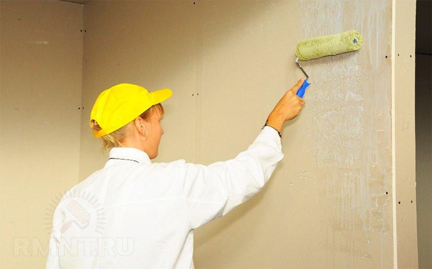Очистка стен для грунтовки наливной бесшовный пол для жилых помещени