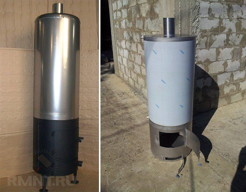 Дровяной титан КВЛ 90 литров для дачи