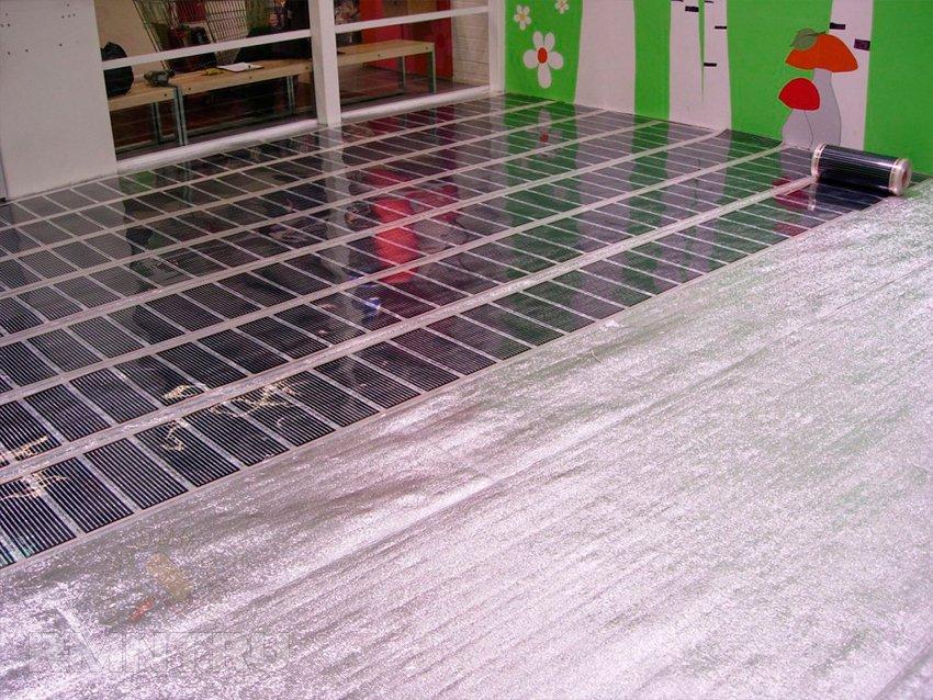 Электрический теплый пол под ламинат и линолеум на деревянный пол