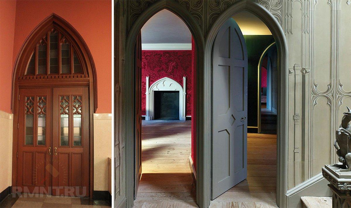 Межкомнатные двери в готическом стиле
