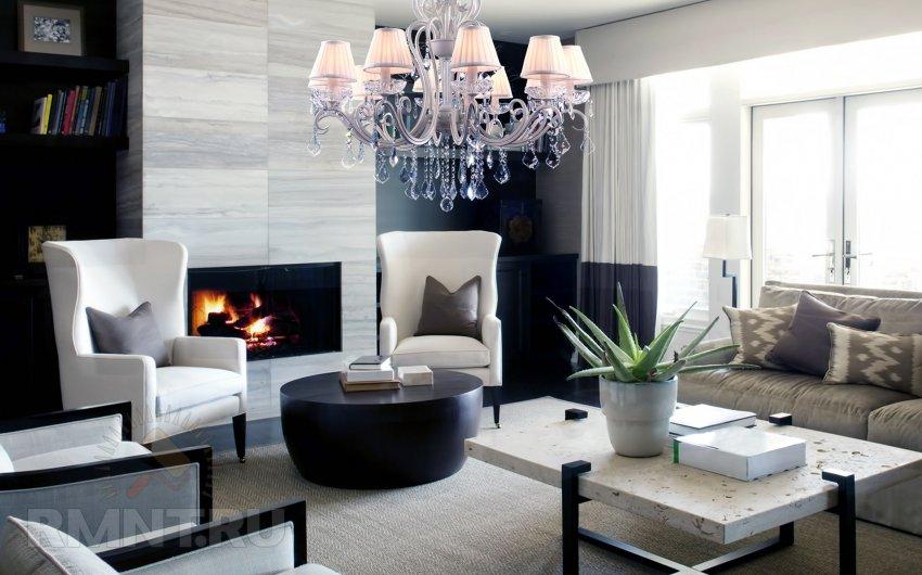 Современные и классические люстры в интерьере, как люде привыкли вырожаться, гостиной: 20 фотоидей