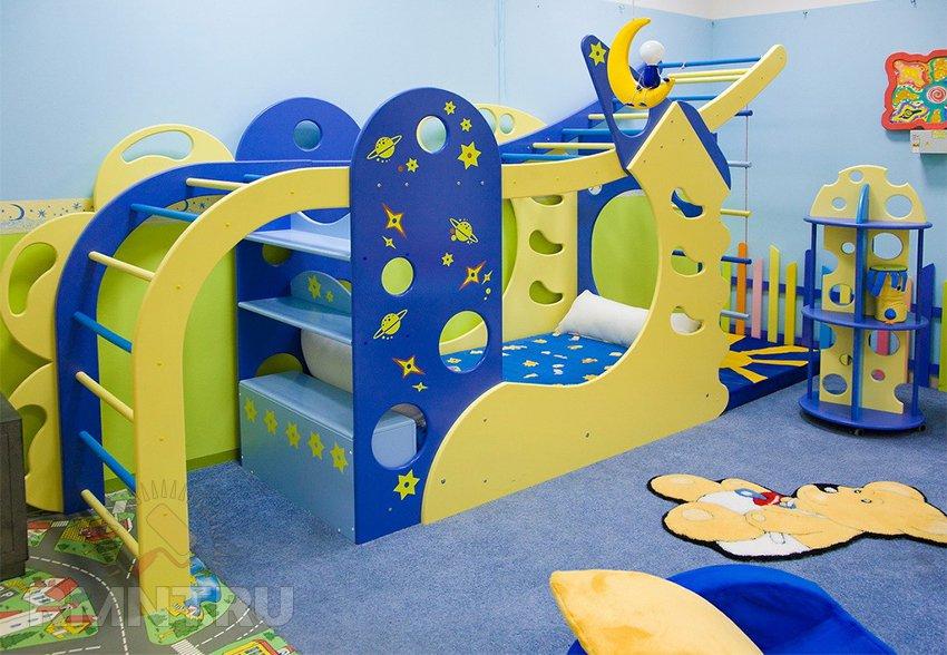 Спортивный уголок в интерьере детской комнаты