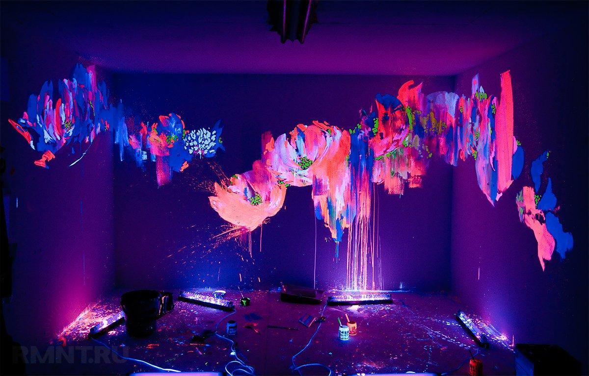 Флуоресцентная панель своими руками
