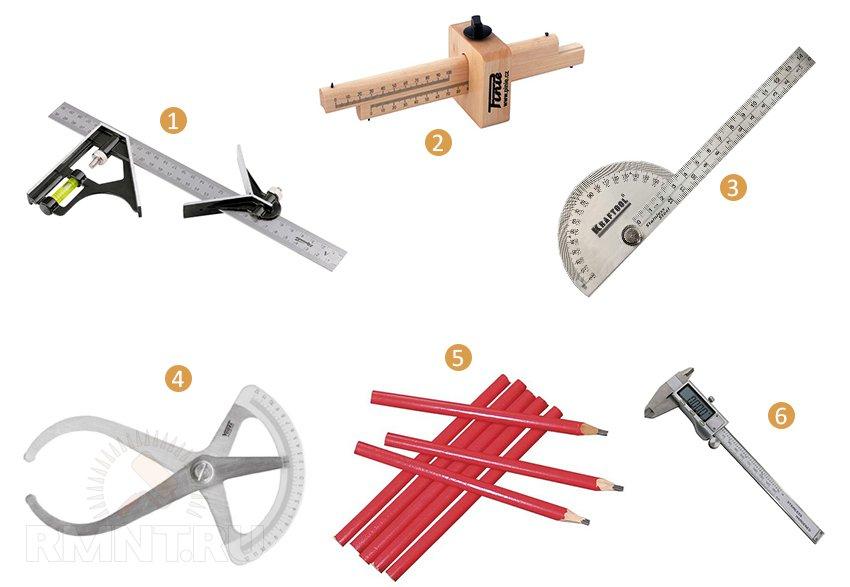 Измерительный инструмент для резки по дереву