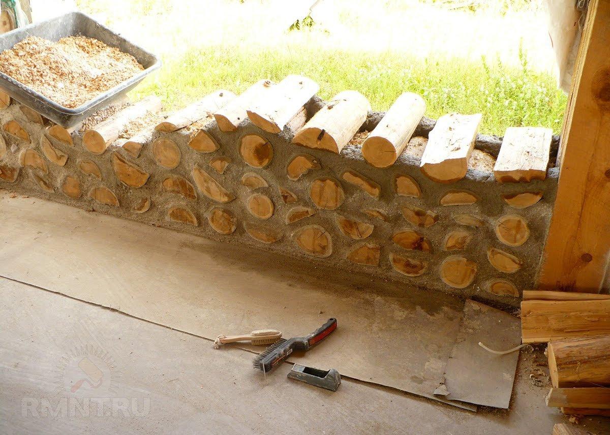 Забор из дров своими руками фото