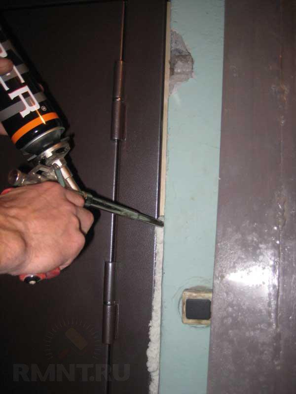 сколько времени нужно металлическая дверь установка