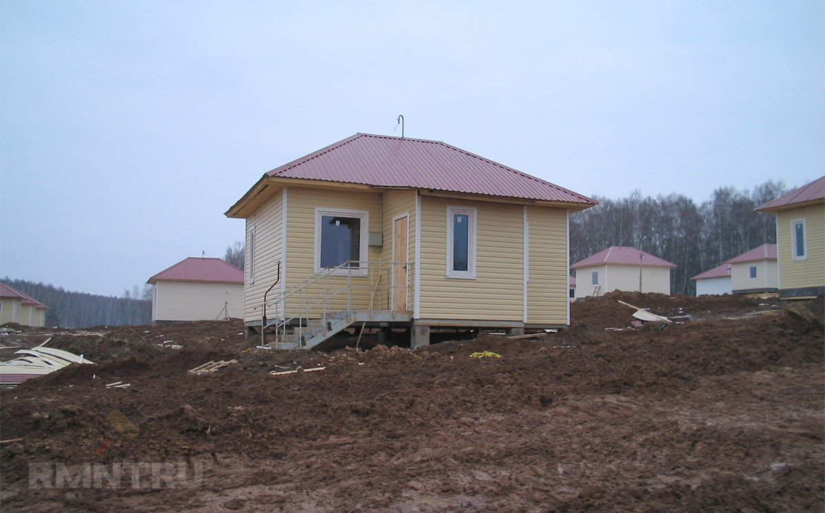 Дом на склоне на фундаменте ТИСЭ