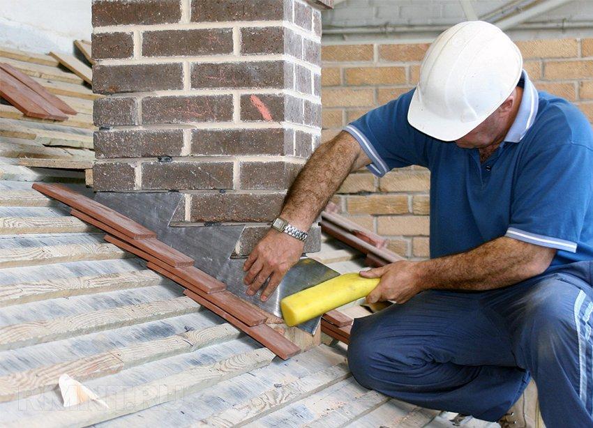 Как изолировать кирпичную трубу дымохода в потолочном перекрытии и крыше