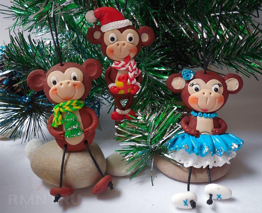 Мягкие игрушки обезьянок