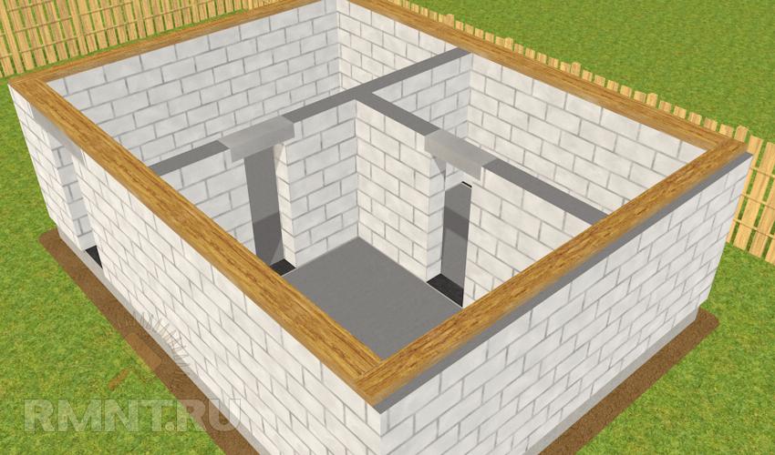 построить баню из газобетона своими руками