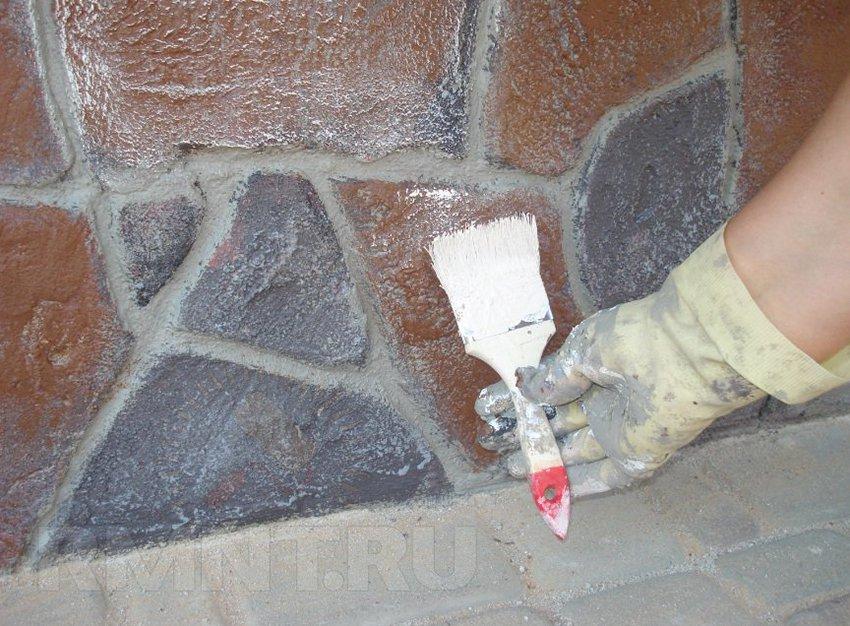Как сделать имитацию камня своими руками на стене